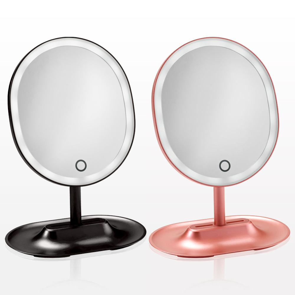 Oval LED Lighted Table Top Cosmetic Mirror