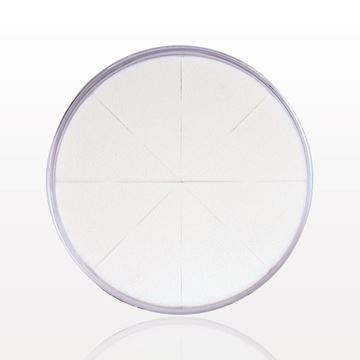 8-Piece Wedge Sponge Wheel, White in Clear Container
