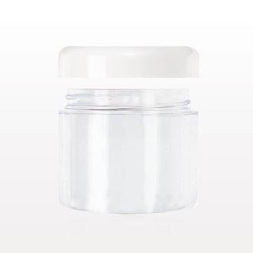 Jar with White Cap, Clear
