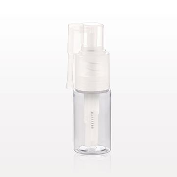 Powder Spray Bottle with Locking Nozzle, Clear