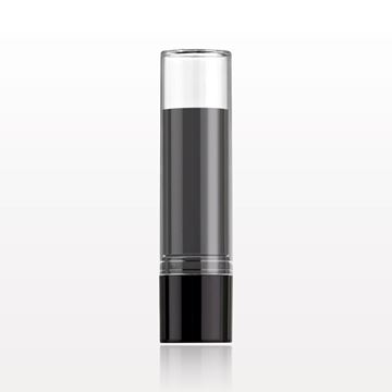 Lipstick Tube, Black with Clear Cap