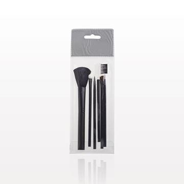6-Piece Black Brush Set with Retail Hang Tab