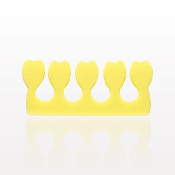 Toe Separator with 5 Small Tulips, Yellow