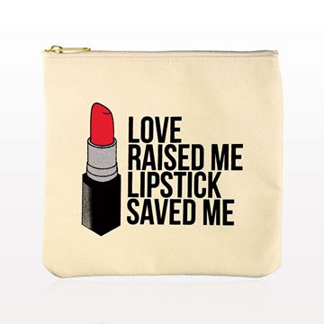 (Limited Edition) Breakups to Makeup™ Signature Lipstick Makeup Clutch, Off White