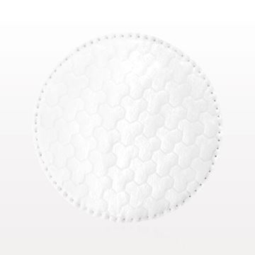 Swisspers® Dual Textured Round Cotton Pad with Stitched Edges