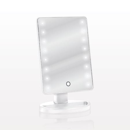 Picture of LED Lighted Table Top Cosmetic Mirror