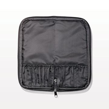 10-Pocket Zippered Brush Case, Black