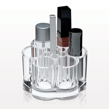 Flower Shaped Lipstick and Brush Organizer, Clear