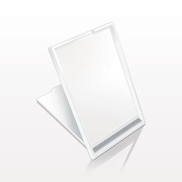 Picture of Self Standing Rectangular Mirror, White