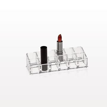 12 Compartment Lipstick Organizer, Clear