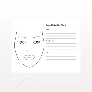 50-Page Face Make-Up Chart Pad