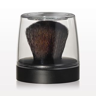 Kabuki Brush with Matte Black Base & Mirrored Cap - Must Purchase with 10056 and 10057