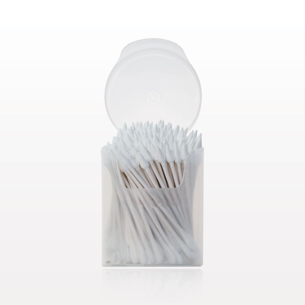 Qosmedix Point Flat Oval Tip Swab In Cylinder Container
