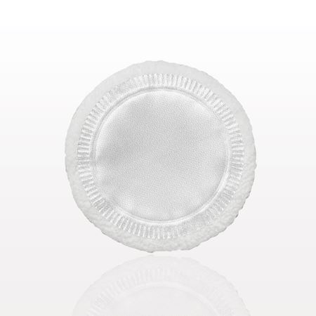 Compact Puff, White with Satin Top