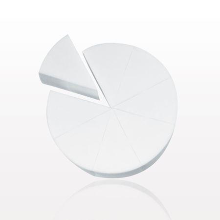 8-Piece Wedge Sponge Wheel, White