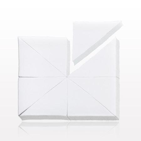 8-Piece Wedge Sponge Block, White