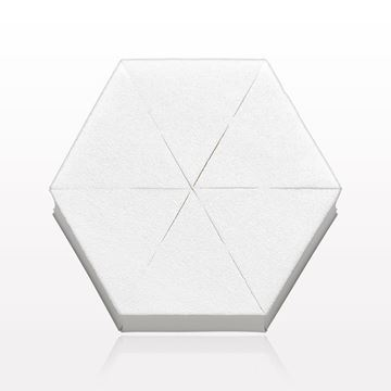 6-Piece Hex Sponge Block, White