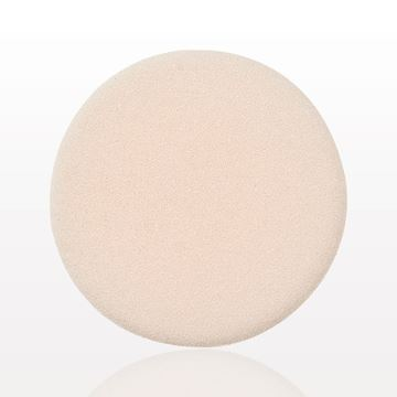 Dual Sided Flocked Foam Puff, Natural