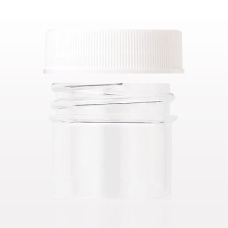 Jar, Clear and Threaded Cap with Liner, White
