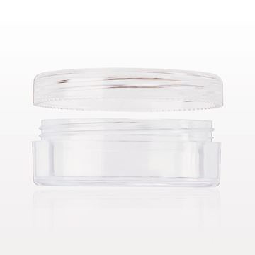 Jar and Threaded Cap, Clear