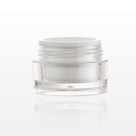 Clear Jar with White Insert