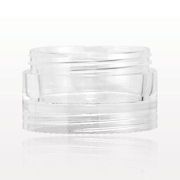 Double Threaded Stackable Jar, Clear