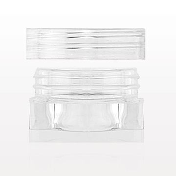 Square Jar and Cap, Clear - 29525
