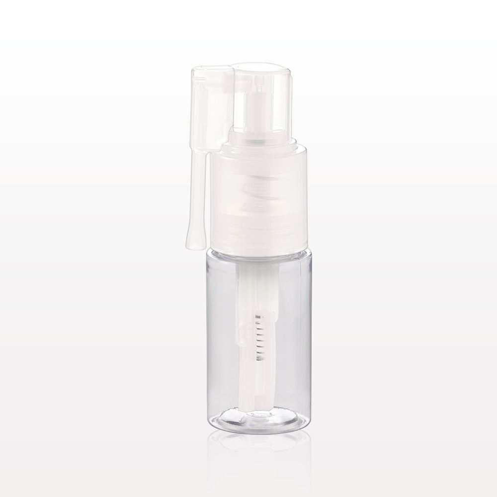 Qosmedix Powder Spray Bottle With Locking Nozzle Clear