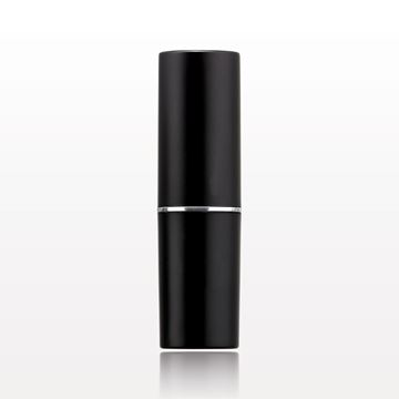Lipstick Tube, Matte Black with Silver Band