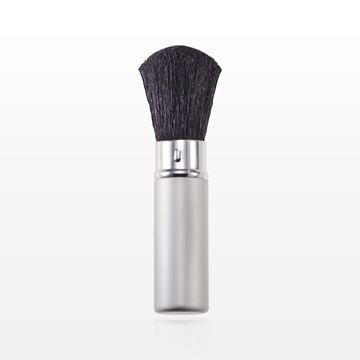 Matte Silver Retractable Powder Brush