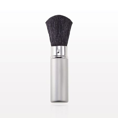 Matte Silver Retractable Powder Brush