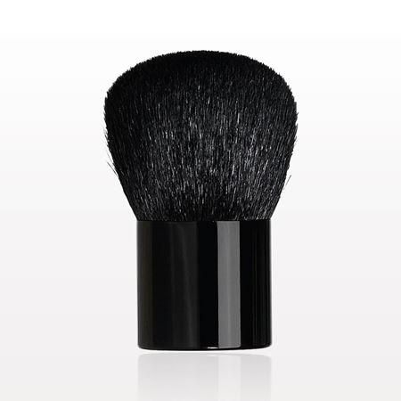 Medium Kabuki Brush with Shiny Black Handle