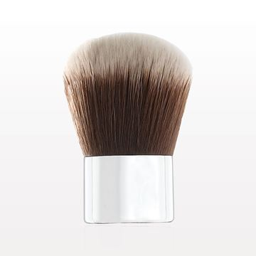 Kabuki Brush with Shiny Silver Handle