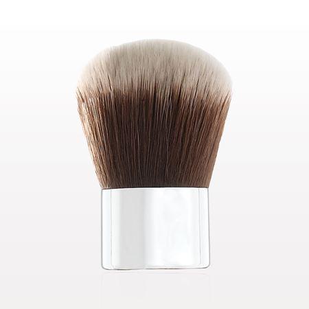 Kabuki Brush with Shiny Silver Handle