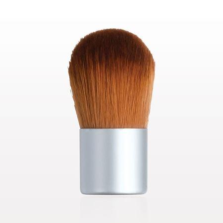 Mini Kabuki Brush with Matte Silver Handle