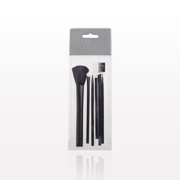 6-Piece Black Brush Set with Retail Hang Tab