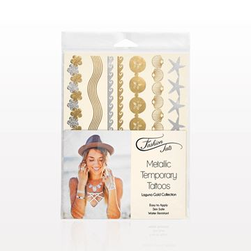 Metallic Temporary Tattoos, Laguna Gold Collection