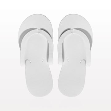 Non-Skid Pedicure Thong Slippers, White