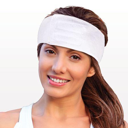 Headband with Velcro® Closure, White