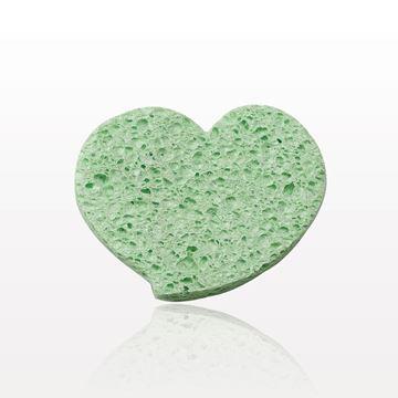 Heart-shaped Cellulose Sponge, Green