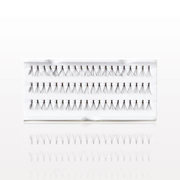 Medium Flare Individual False Eyelashes, Black