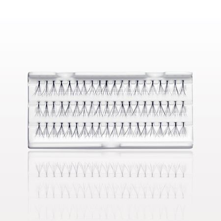 Long Flare Individual False Eyelashes, Black