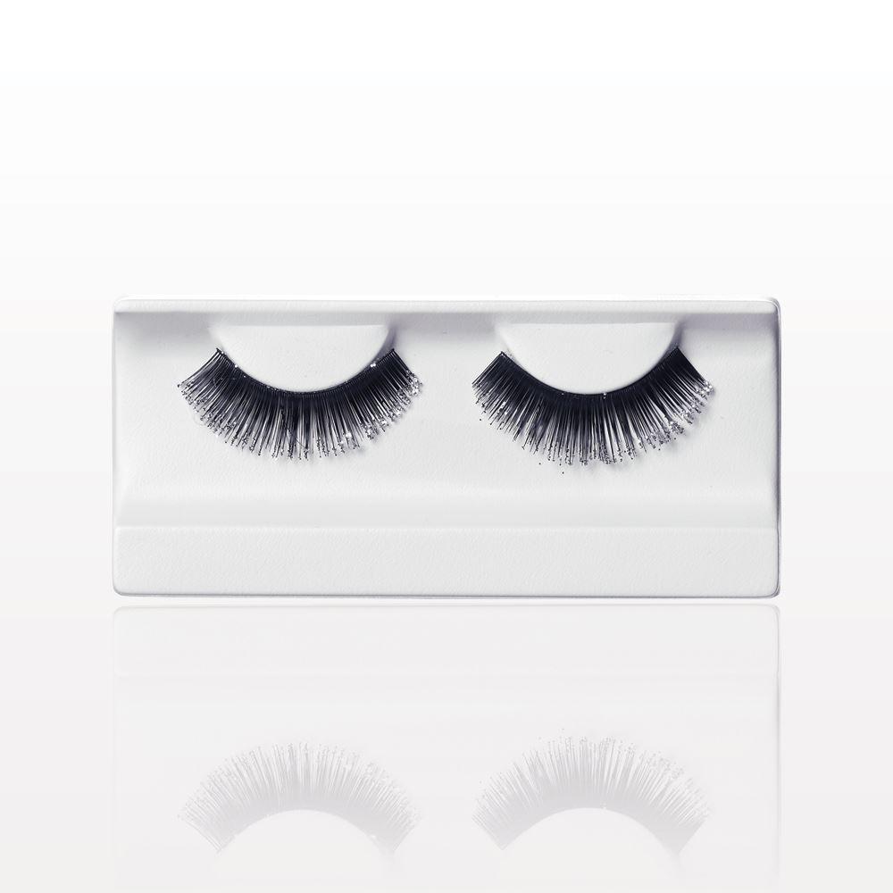 Qosmedix False Eyelashes With Glitter Black