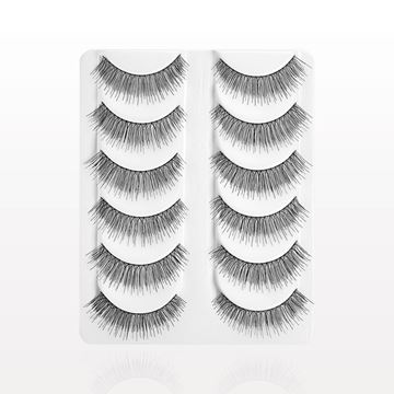 Wispy False Eyelashes, Black, Value Set