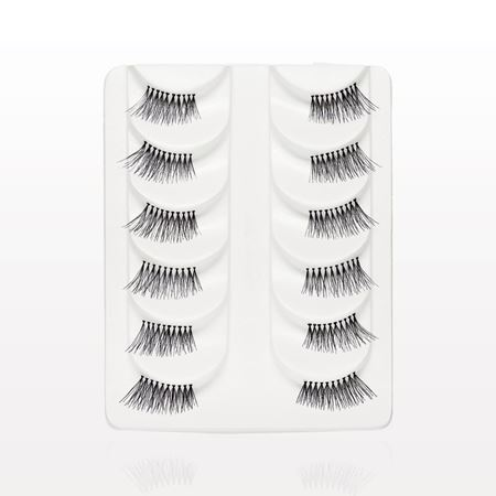 Natural Corner False Eyelashes, Black, Value Set