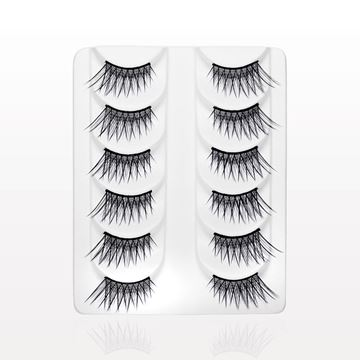 Corner False Eyelashes, Black, Value Set