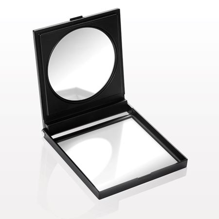 Large Self-Standing Double Mirrored Compact, Matte Black