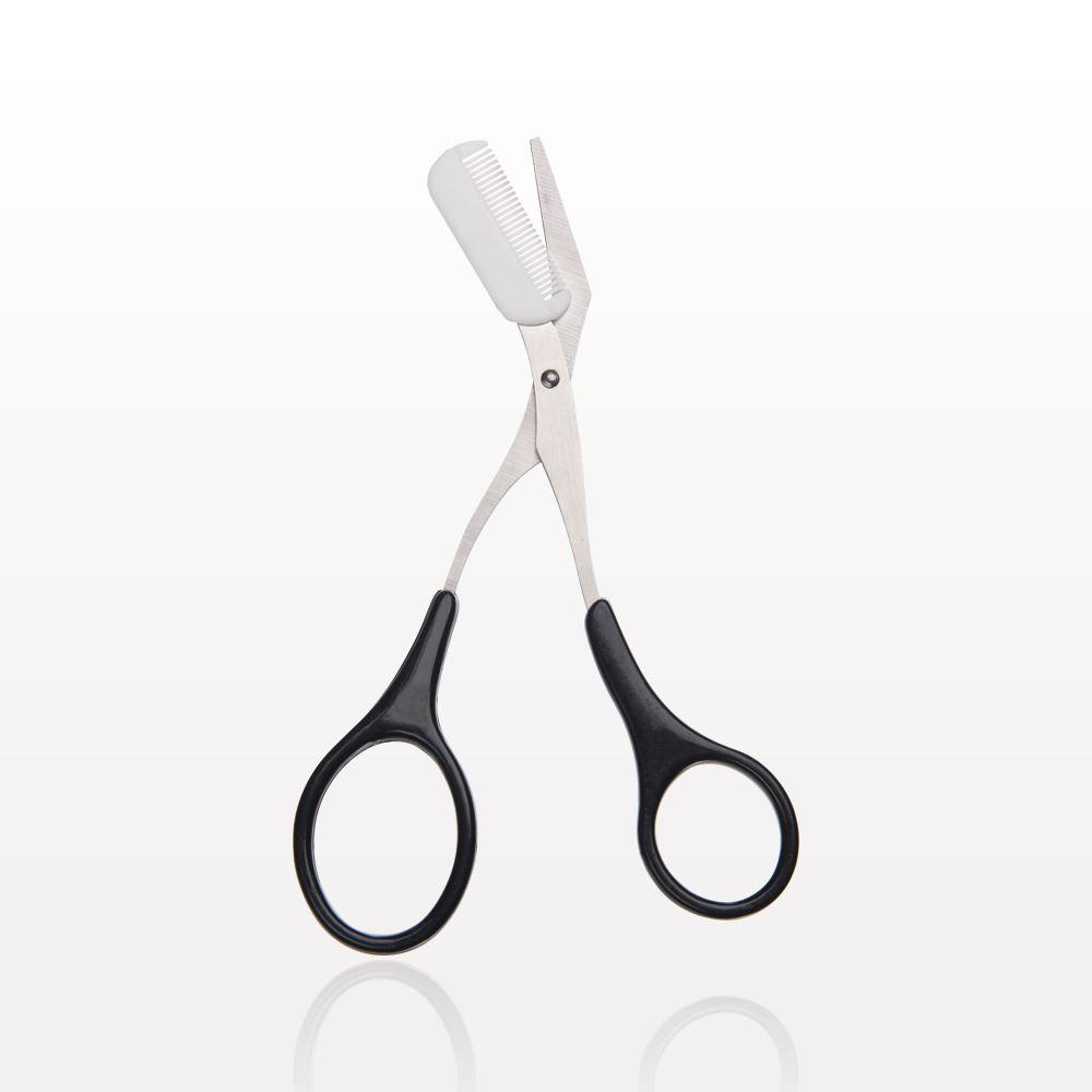 qosmedix brow trimming scissor with removable comb