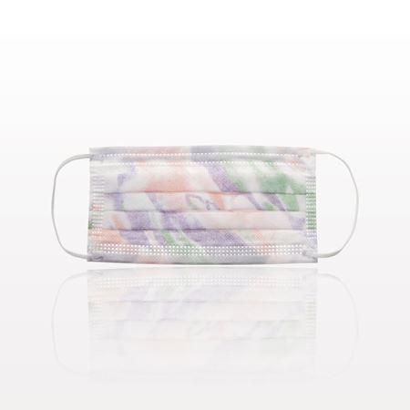 Sensitive Ear Loop Mask, Extra High Filtration, Fluid Resistant; Breathable, Latex and Fiberglass Free, Multicolor