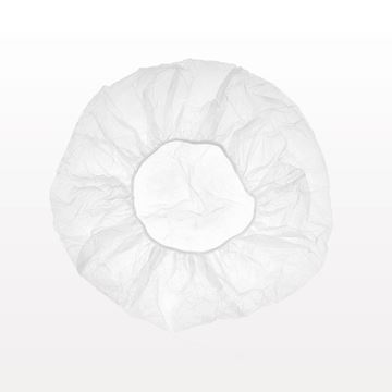 Disposable Bouffant Cap, White